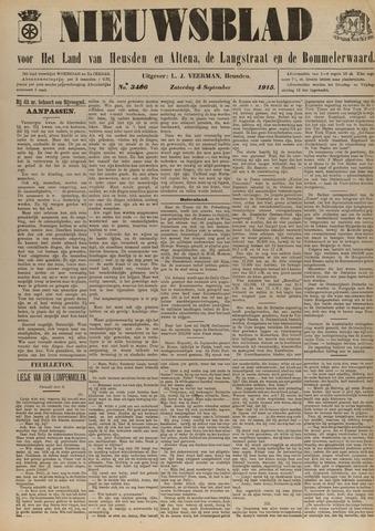 Nieuwsblad het land van Heusden en Altena de Langstraat en de Bommelerwaard 1915-09-04