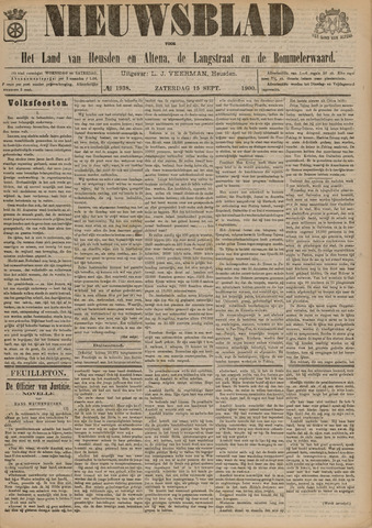 Nieuwsblad het land van Heusden en Altena de Langstraat en de Bommelerwaard 1900-09-15
