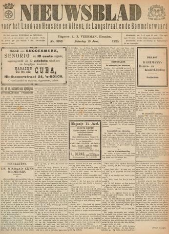 Nieuwsblad het land van Heusden en Altena de Langstraat en de Bommelerwaard 1920-06-19