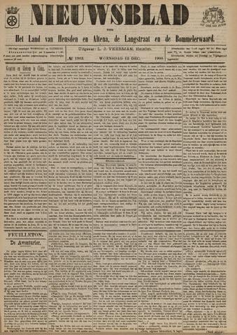 Nieuwsblad het land van Heusden en Altena de Langstraat en de Bommelerwaard 1900-12-12