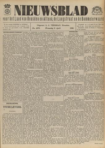 Nieuwsblad het land van Heusden en Altena de Langstraat en de Bommelerwaard 1921-04-06