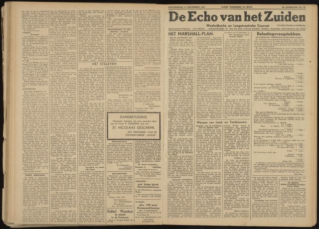 Echo van het Zuiden 1947-12-11