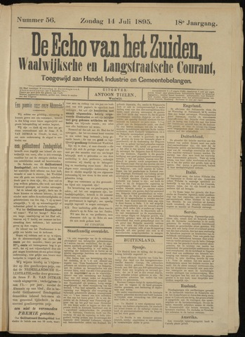 Echo van het Zuiden 1895-07-14