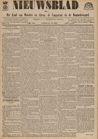 Nieuwsblad het land van Heusden en Altena de Langstraat en de Bommelerwaard 1899-12-16