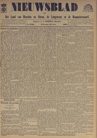 Nieuwsblad het land van Heusden en Altena de Langstraat en de Bommelerwaard 1908-06-10