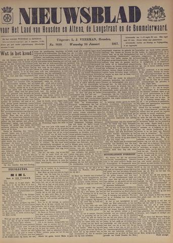 Nieuwsblad het land van Heusden en Altena de Langstraat en de Bommelerwaard 1917-01-24