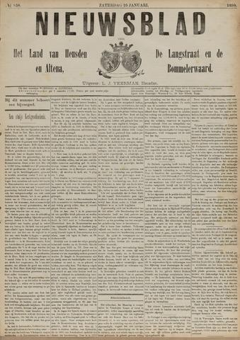 Nieuwsblad het land van Heusden en Altena de Langstraat en de Bommelerwaard 1890-01-25