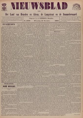Nieuwsblad het land van Heusden en Altena de Langstraat en de Bommelerwaard 1908-11-11
