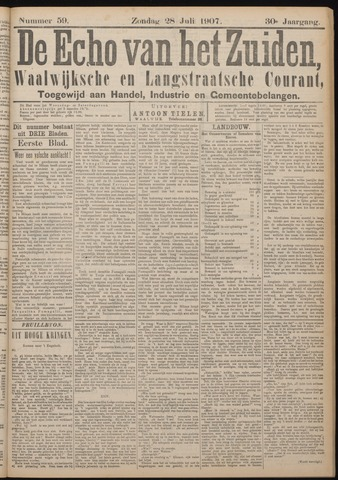Echo van het Zuiden 1907-07-28