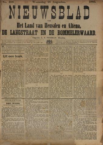 Nieuwsblad het land van Heusden en Altena de Langstraat en de Bommelerwaard 1885-08-26