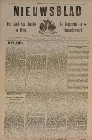 Nieuwsblad het land van Heusden en Altena de Langstraat en de Bommelerwaard 1887-11-12