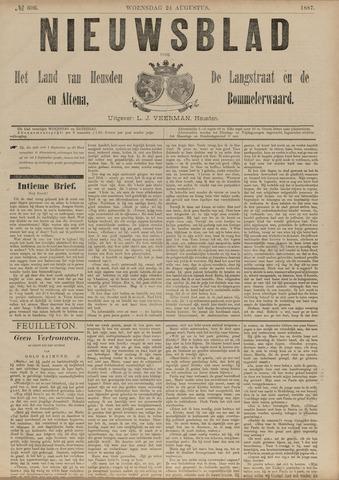 Nieuwsblad het land van Heusden en Altena de Langstraat en de Bommelerwaard 1887-08-24