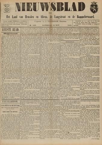 Nieuwsblad het land van Heusden en Altena de Langstraat en de Bommelerwaard 1895-11-16