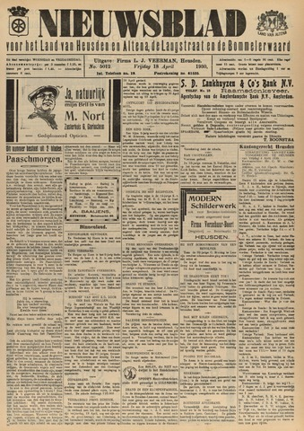 Nieuwsblad het land van Heusden en Altena de Langstraat en de Bommelerwaard 1930-04-18