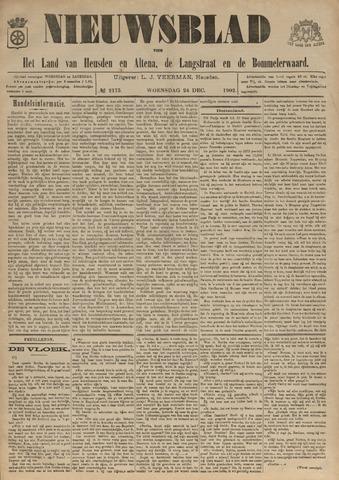 Nieuwsblad het land van Heusden en Altena de Langstraat en de Bommelerwaard 1902-12-24