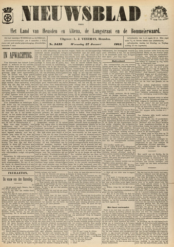 Nieuwsblad het land van Heusden en Altena de Langstraat en de Bommelerwaard 1915-01-27