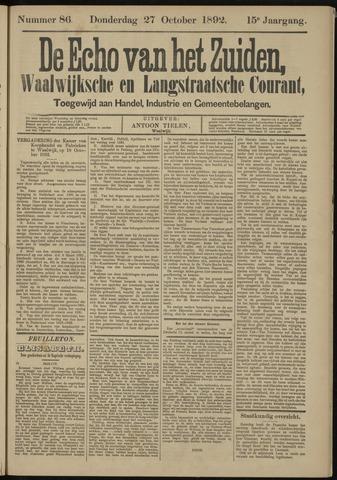 Echo van het Zuiden 1892-10-27