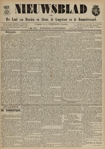 Nieuwsblad het land van Heusden en Altena de Langstraat en de Bommelerwaard 1892-09-14