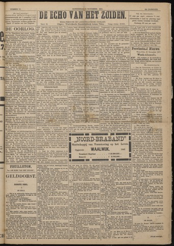 Echo van het Zuiden 1917-11-29