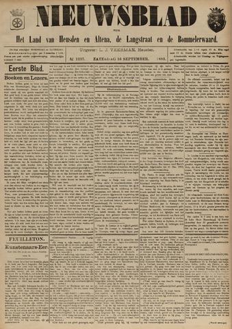 Nieuwsblad het land van Heusden en Altena de Langstraat en de Bommelerwaard 1893-09-16