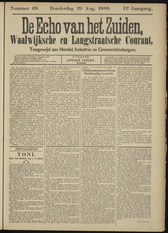 Echo van het Zuiden 1889-08-29