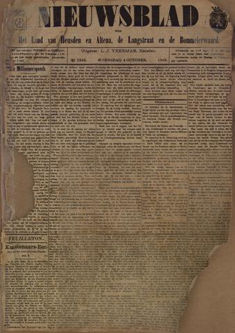 Nieuwsblad het land van Heusden en Altena de Langstraat en de Bommelerwaard 1893-10-04
