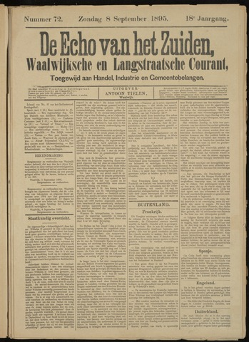 Echo van het Zuiden 1895-09-08