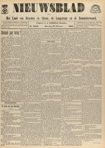 Nieuwsblad het land van Heusden en Altena de Langstraat en de Bommelerwaard 1915-02-27