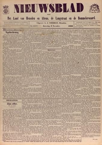 Nieuwsblad het land van Heusden en Altena de Langstraat en de Bommelerwaard 1906-11-03