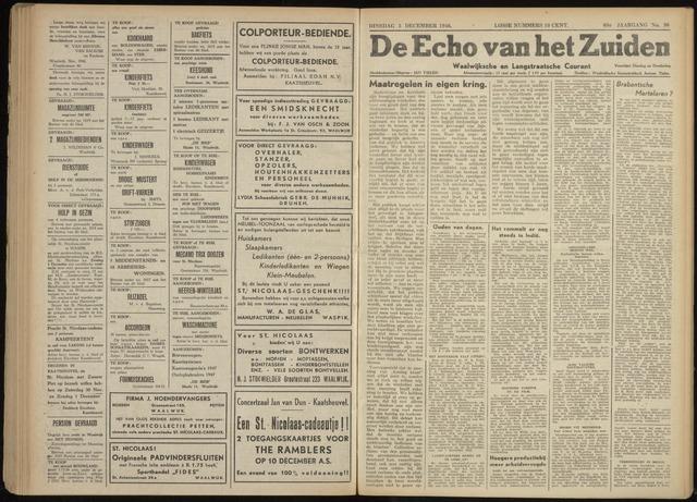 Echo van het Zuiden 1946-12-03