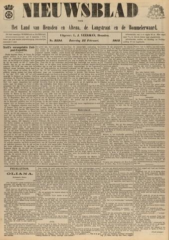 Nieuwsblad het land van Heusden en Altena de Langstraat en de Bommelerwaard 1913-02-22