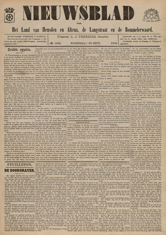 Nieuwsblad het land van Heusden en Altena de Langstraat en de Bommelerwaard 1899-09-20