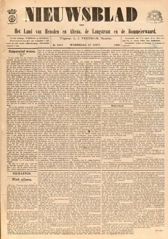 Nieuwsblad het land van Heusden en Altena de Langstraat en de Bommelerwaard 1905-09-27