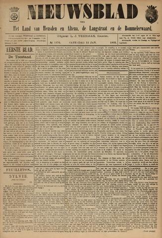 Nieuwsblad het land van Heusden en Altena de Langstraat en de Bommelerwaard 1895-01-12