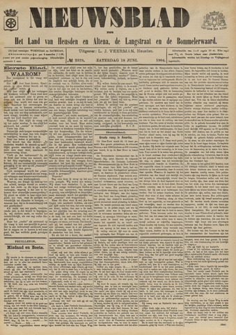 Nieuwsblad het land van Heusden en Altena de Langstraat en de Bommelerwaard 1904-06-18