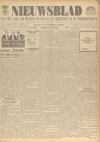 Nieuwsblad het land van Heusden en Altena de Langstraat en de Bommelerwaard 1917-11-24