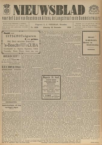 Nieuwsblad het land van Heusden en Altena de Langstraat en de Bommelerwaard 1919-12-13