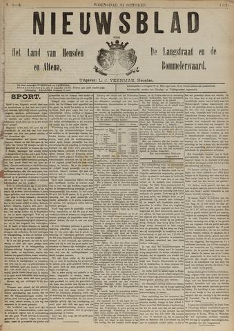 Nieuwsblad het land van Heusden en Altena de Langstraat en de Bommelerwaard 1891-10-21
