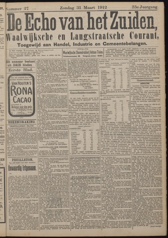 Echo van het Zuiden 1912-03-31