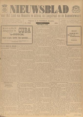 Nieuwsblad het land van Heusden en Altena de Langstraat en de Bommelerwaard 1918-06-08