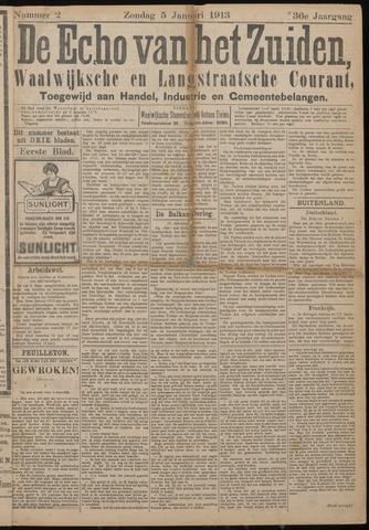 Echo van het Zuiden 1913-01-05