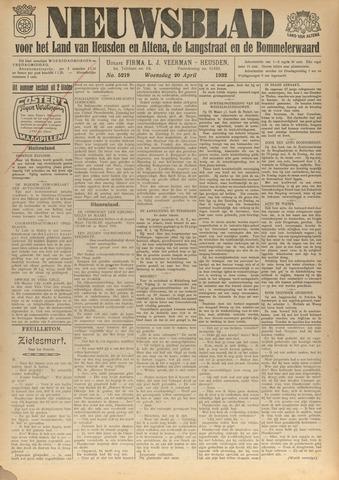 Nieuwsblad het land van Heusden en Altena de Langstraat en de Bommelerwaard 1932-04-20