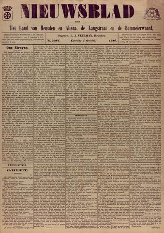 Nieuwsblad het land van Heusden en Altena de Langstraat en de Bommelerwaard 1910-10-01