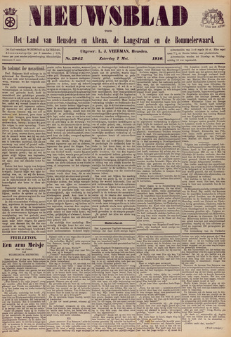Nieuwsblad het land van Heusden en Altena de Langstraat en de Bommelerwaard 1910-05-07