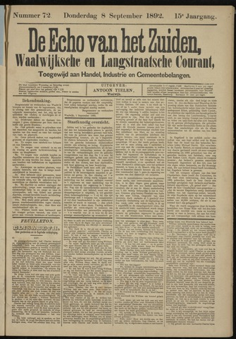 Echo van het Zuiden 1892-09-08