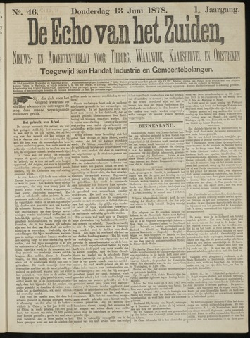 Echo van het Zuiden 1878-06-13