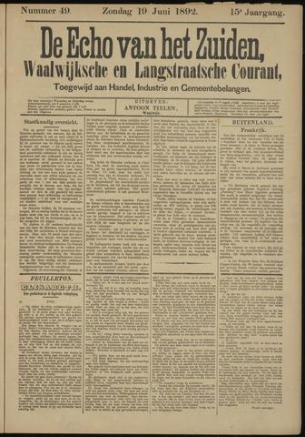 Echo van het Zuiden 1892-06-19