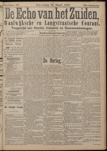 Echo van het Zuiden 1915-03-25