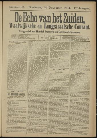 Echo van het Zuiden 1894-11-22