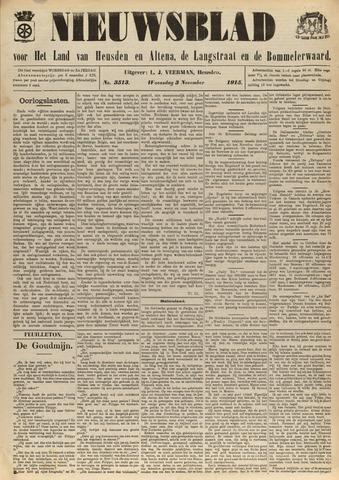 Nieuwsblad het land van Heusden en Altena de Langstraat en de Bommelerwaard 1915-11-03